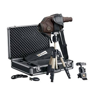 Leupold Golden Ring HD 12-40x60 Spotting Scope Kit with Tripod Window Mount and Hard Case Brown 61070