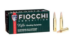 Fiocchi 223rem 55 Grain Weight Fmjbt 50/1000