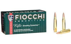Fiocchi 223rem 62 Grain Weight Fmjbt 50/1000