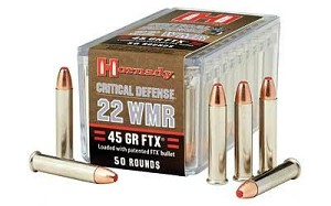 Hrndy 22wmr 45 Grain Weight Ftx Cd 50/2000