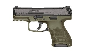 "Hk Vp9sk 9mm 3.39"" 10rd Od Ns 3mags"