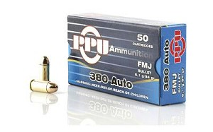 Ppu 380acp Fmj 94 Grain Weight 50/1000