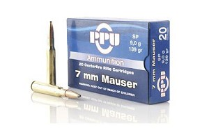 Ppu 7mm Mauser Sp 139 Grain Weight 20/500