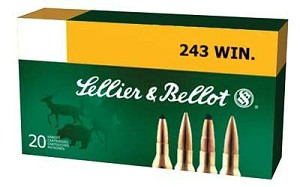 S&b 243win 100 Grain Weight Sp 20/500