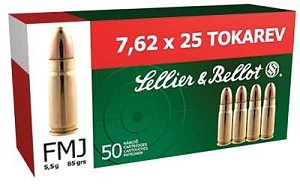 S&b 7.62x25 85 Grain Weight Fmj 50/1500