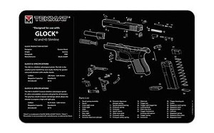 Tekmat Pistol Mat For Glk 42/43 Black