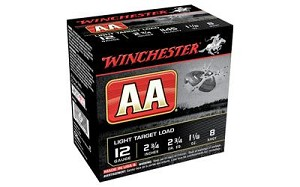 "Win Aa Track Black 12ga 2.75"" #8 25/"