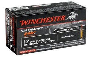 Win Varmint Hv 17wsm 20 Grain Weight V-max 50/