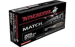 Win Match 223rem 69 Grain Weight Bthp 20/200