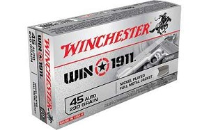 Win 1911 45acp 230 Grain Weight Fmj 50/500