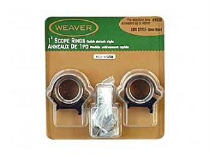 "Weaver Top Mount Rngs 1"" Low"